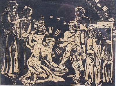 'Fußwaschung', Margret Hofheinz-Döring, 1932