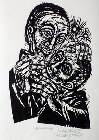 'Blindenheilung', 1979 - Walter Habdank. © Galerie Habdank