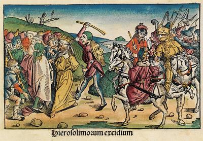 'Vertreibung der Juden aus Jerusalem unter Nebukadnezar', 1493, Michel Wolgemut, Wilhelm Pleydenwurff