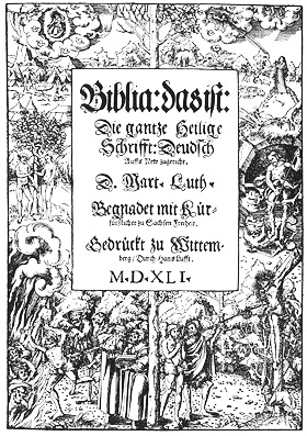 'Lucas Cranach the Younger: Title woodcut for the 1541 of Martin Luther's German Bible', 1541, Lucas Cranach der Jüngere