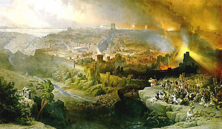 'The Siege and Destruction of Jerusalem', 1850, David Roberts