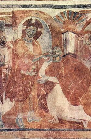 'Heilung des Taubstummen', um 830, Meister von Müstair