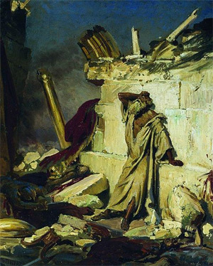 'Cry of prophet Jeremiah on the Ruins of Jerusalem', 1870, Ilja Jefimowitsch Repin