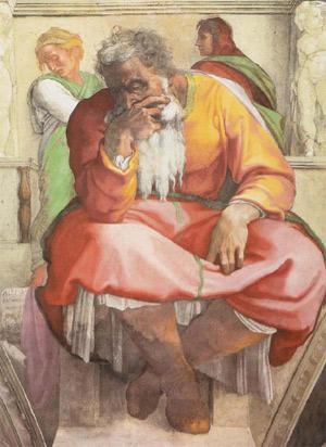 'Der Prophet Jeremias', 1508-1512