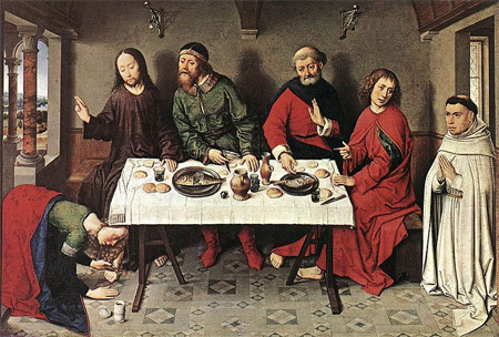 'Christ in the House of Simon', 1440-1450, Dieric Bouts