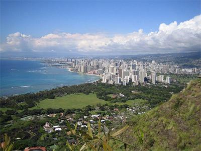 'Honolulu and Waikiki from top of Diamond Head', 2005, Jim Harper