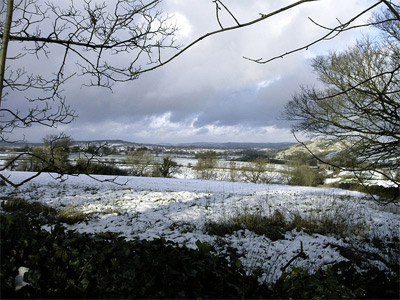 'Staffordshire Moorlands with snow north of Grindon', 2008, R J Higginson