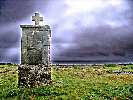 'Inishmore Kreuz aus Stein auf den Aran-Inseln, County Galway, Irland', 2005, Jim from Lexington, KY, USA