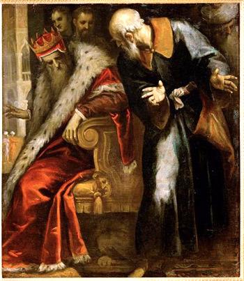 'Prophet Nathan ermahnt König David', 1. Viertel 17. Jahrhundert, Palma il Giovane, Gryffindor 2008