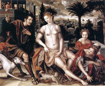 'David and Bathsheba', 1562, Jan Massys