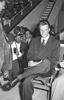 'Billy Graham im Publikum sitzend', 1954, Lachmann, Hans