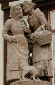 'Gossips in the Altstadt in Sindelfingen, Germany', Rebecca Kennison, 1989