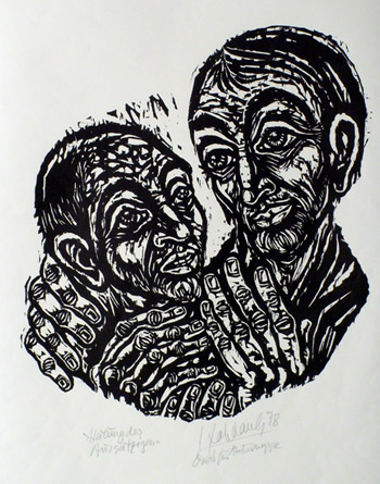 'Heilung des Aussätzigen', 1978 - Walter Habdank. © Galerie Habdank