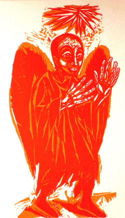 'Engel der Verkündigung', 1975 - Walter Habdank. © Galerie Habdank