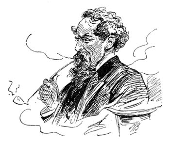 'Charles Dickens - Sketch in the Entr'acte', 1892, Alfred Bryan