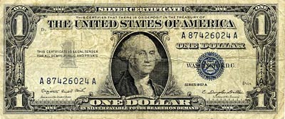 'A unit of currency, issued by the United States of America'