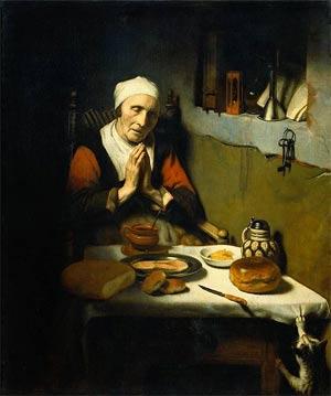 'Oude vrouw in gebed, bekend als 'Het gebed zonder end', 1656, Nicolaes Maes