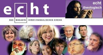 'Echt, das Maagazin der Evangelischen Kirche', screenshot der website