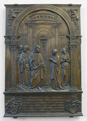'Christus und das kanaanäische Weib ', Nürnberg 1543, Hans Vischer, Photo: Andreas Praefcke