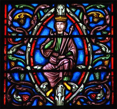 'l'Arbre de Jessé' Vitrail du 13ème siècle, 2008, Vassil