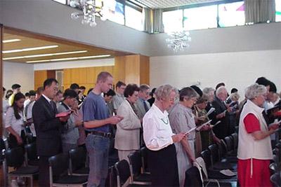 'Gottesdienst im Kirchsaal Süd'