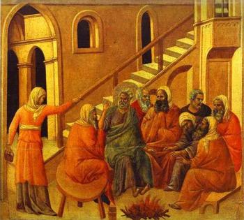 Petrus verleugnet Jesus, 1308-1311