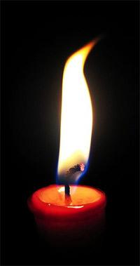 'Candle wick burning', 2004, Matthew Bowden