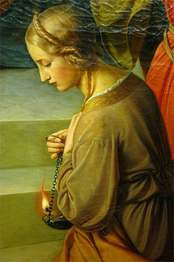 Detail from 'The Parable of the Wise and Foolish Virgins', 1838–1842, Friedrich Wilhelm Schadow