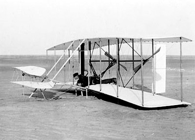 'Kitty Hawk / Wright-Flugzeug', 1903, Wright Brothers Negatives, Library of Congress