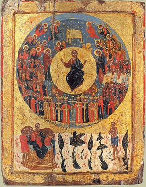 'Icon of Second Coming ', ca. 1700, Anonymous, Greece