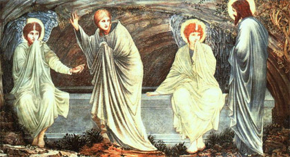 'The Morning of the Resurrection', 1882, Edward Burne-Jones