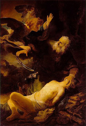 'Sacrifice of Isaac', 1635, Rembrandt