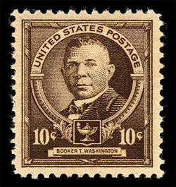 'US postage stamp of 1940 depicting en:Booker T. Washington', 2007, Wysinger, PD-STAMP