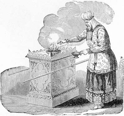 'High priest offering incense on the altar', Illustrator of Henry Davenport Northrop's 'Treasures of the Bible', 1894,