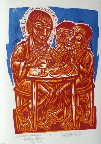 'Hungrige sättigen', 1991 - Walter Habdank. © Galerie Habdank