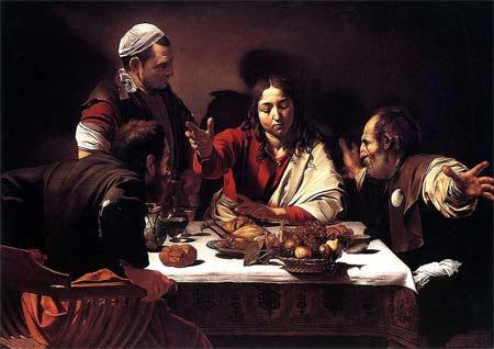'Supper at Emmaus', Michelangelo da Caravaggio, painted for Ciriaco Mattei in 1601-02