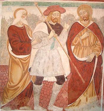 'Emmaus, Resurrection appearances of Jesus', Giovanni and Francesco Cagnola, end of XV century - beginning of XVI century