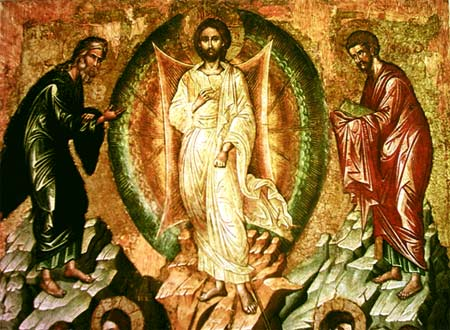 Ausschnitt aus 'Die Verklärung Jesu' - Ikonen-Museum Recklinghausen