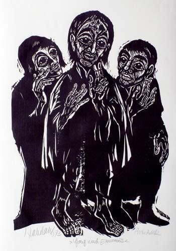 'Gang nach Emmaus', 1973 - Walter Habdank. © Galerie Habdank
