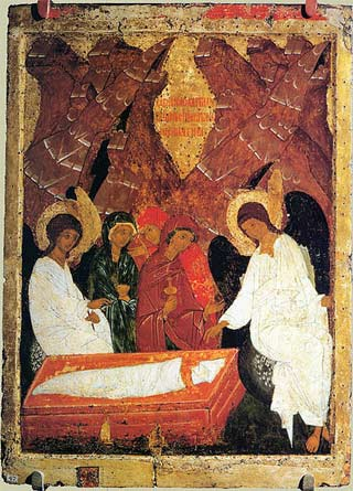 'Icon of saint womens who went to Tomb of Christ', end of XV - beg. of XVI c.