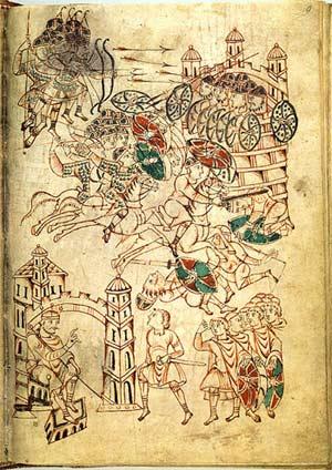 'Leiden I Maccabees 9 recto', 1190-1200