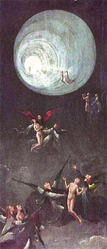 'Ascent of the Blessed', Ca. 1490 or later, Hieronymus Bosch