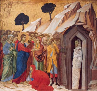 'The Raising of Lazarus', 1310–11, Duccio di Buoninsegna