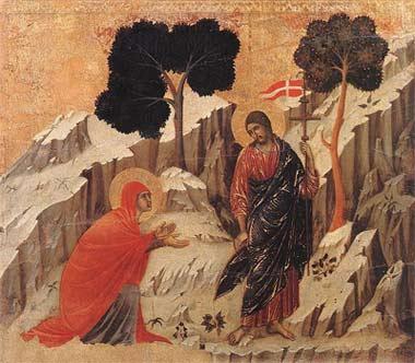 'Christus erscheint Magdalena', 1308-1311, Duccio di Buoninsegna
