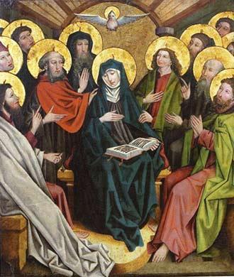 'Pfingstwunder', Ende 15. Jh., Meister des Salemer Heiligenaltars