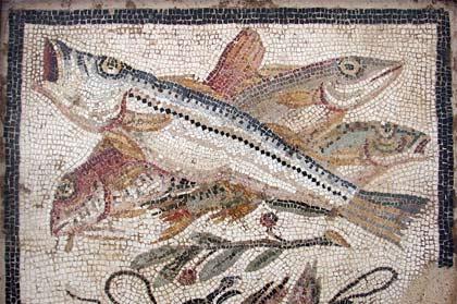 'Fish mosaic from Pompeii', Massimo Finizio