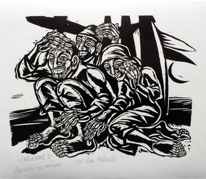 'Vor dem Aufbruch', 1990 - Walter Habdank. © Galerie Habdank