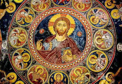 'The Pantocrator - Fresco in Troodos in Asinou Church', 2007, Ed89