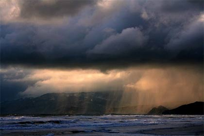 'Distant Rain. The picture was taken at Ocean Beach, San Francisco', 2006, Mila Zinkova
