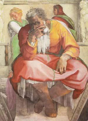 'Der Prophet Jeremias', 1508-1512, Michelangelo Buonarroti